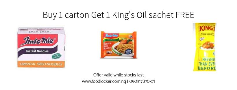 Buy 1 carton, Get 1 King's Oil sachet FREE