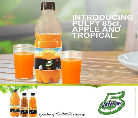 5 Alive Pulpy Orange 85cl